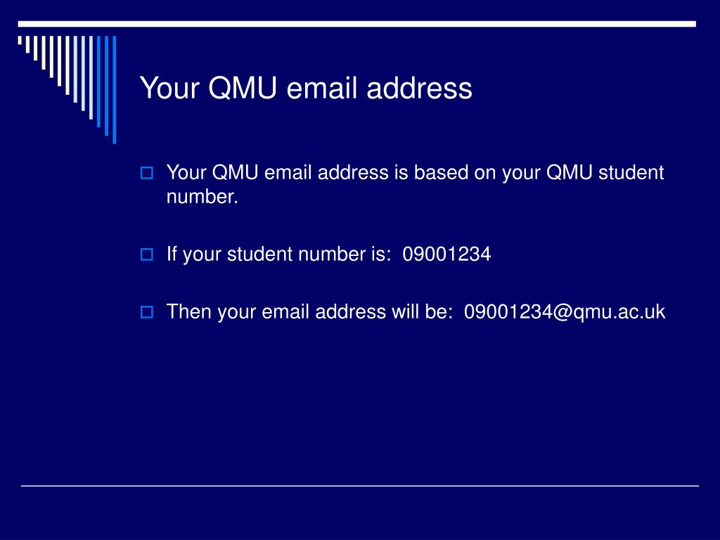 Your QMU email address