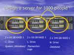 design a server for 1000 people28