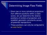 determining image flow fields