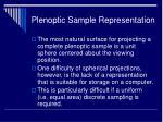 plenoptic sample representation