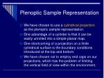plenoptic sample representation12
