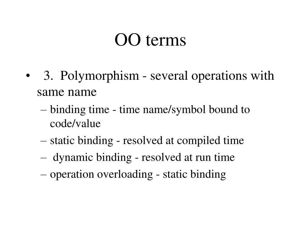 OO terms