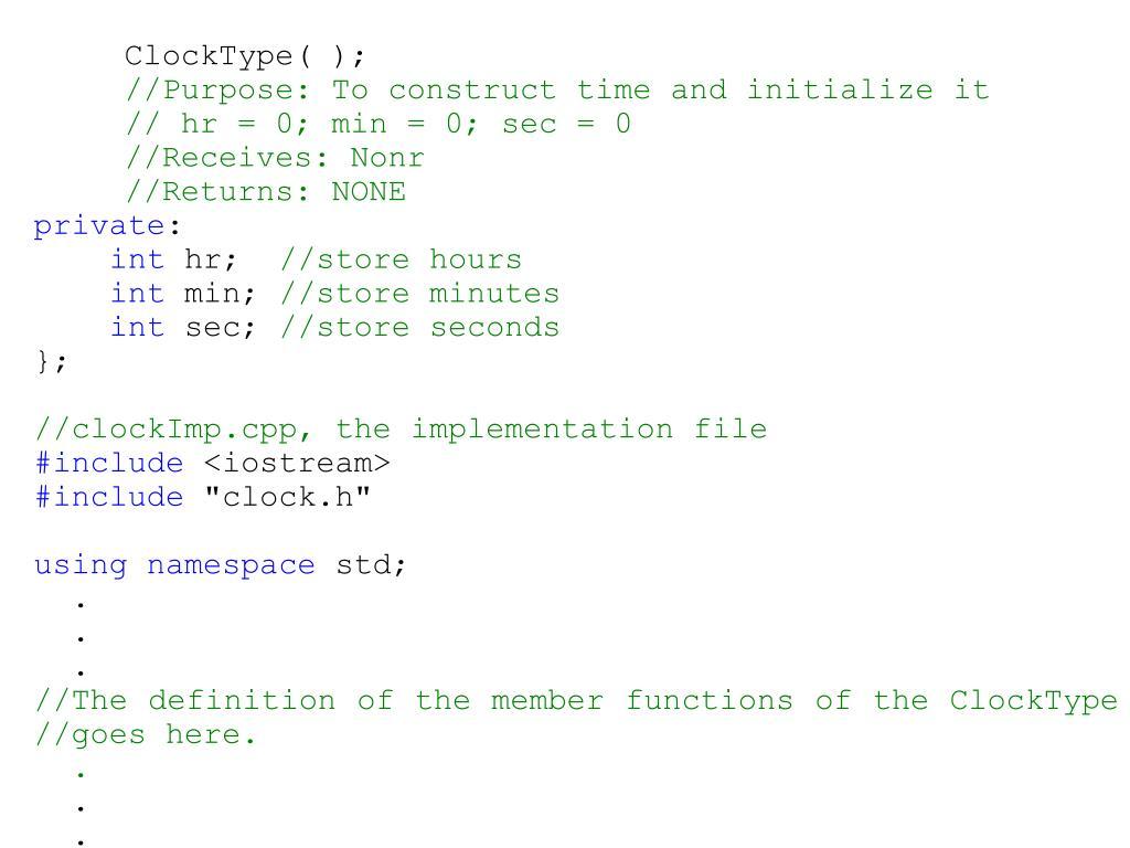ClockType( );