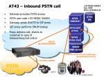 at43 inbound pstn call