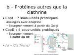 b prot ines autres que la clathrine