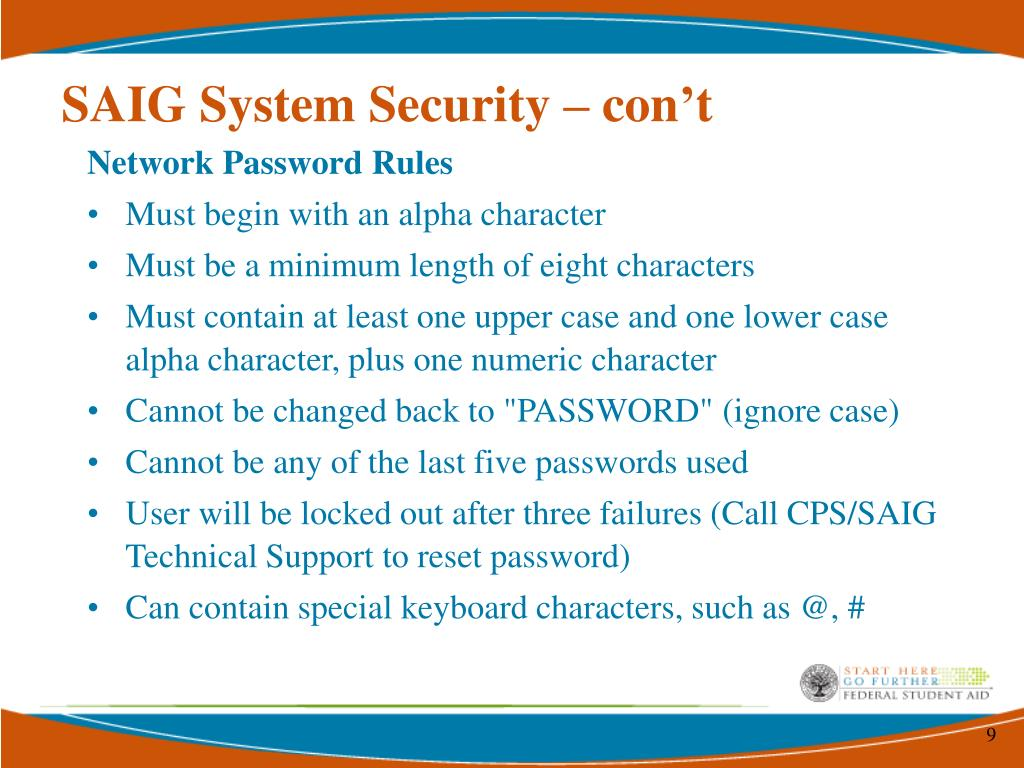 SAIG System Security – con't