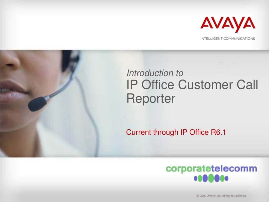 introduction to ip office customer call reporter l.