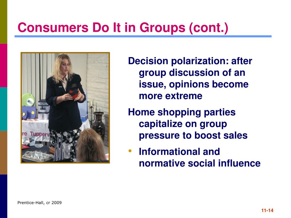 Consumers Do It in Groups (cont.)