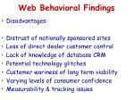 web behavioral findings1