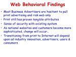 web behavioral findings2