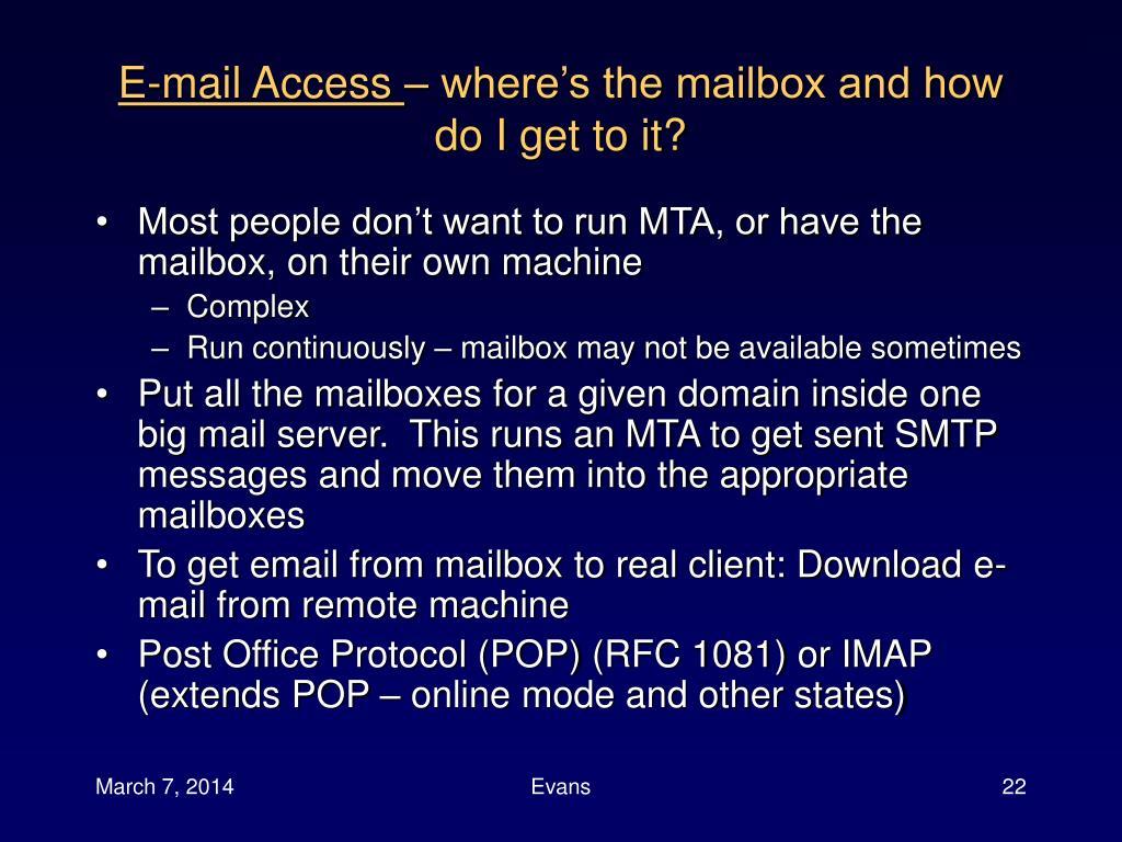 E-mail Access