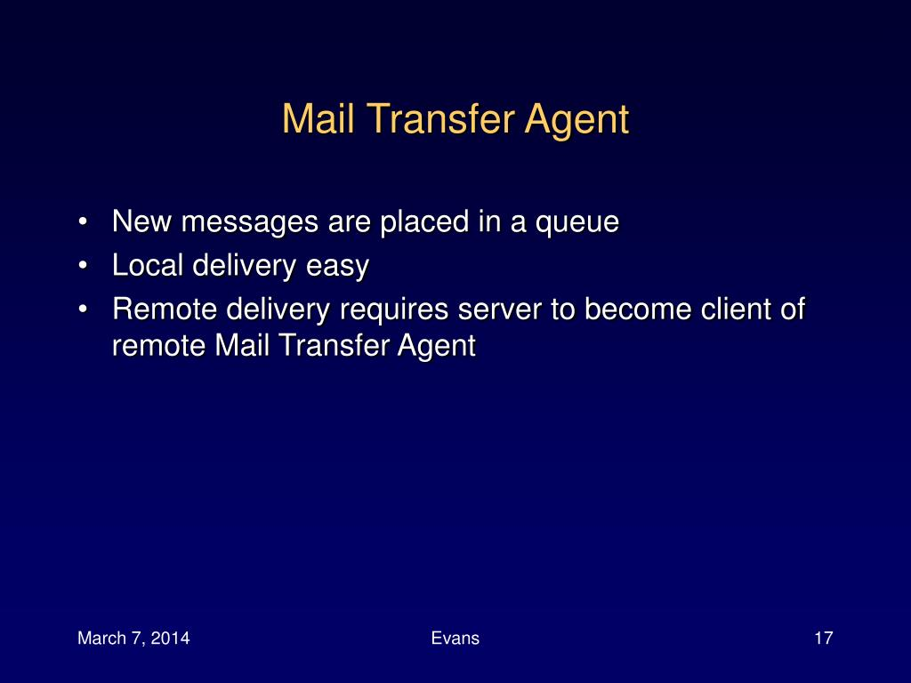 Mail Transfer Agent