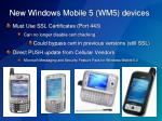 new windows mobile 5 wm5 devices