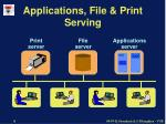 applications file print serving