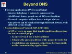 beyond dns
