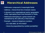 hierarchical addresses
