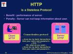 http is a stateless protocol