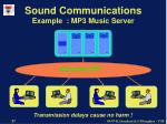 sound communications example mp3 music server