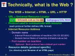 technically what is the web21