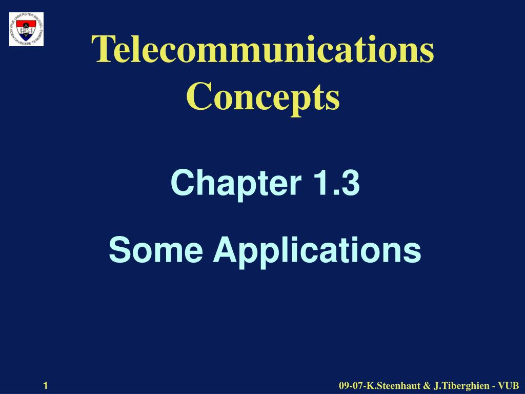 telecommunications concepts l.
