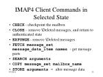 imap4 client commands in selected state