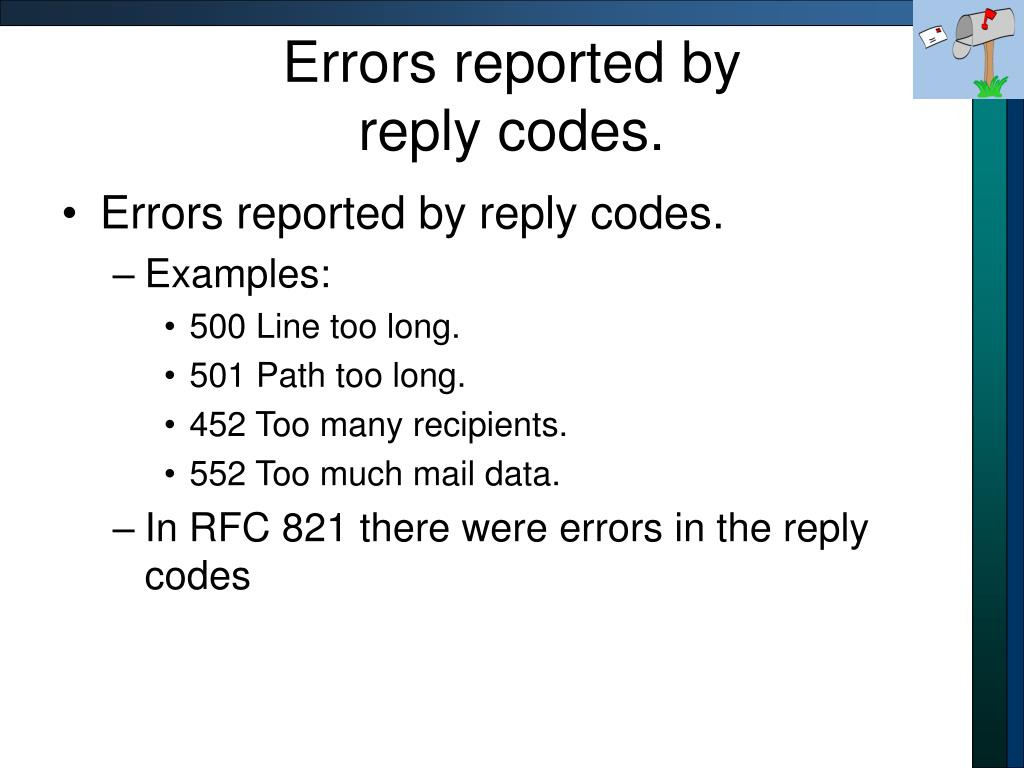Errors reported by