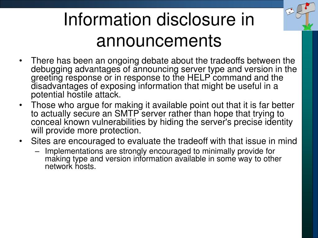 Information disclosure in announcements