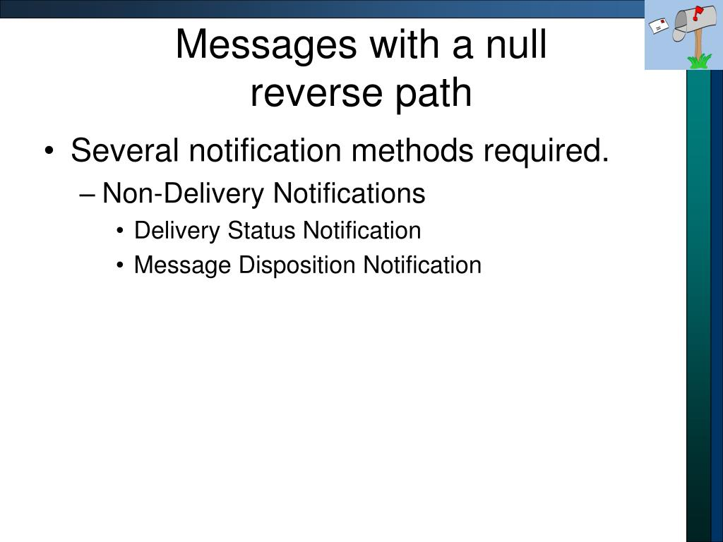 Messages with a null
