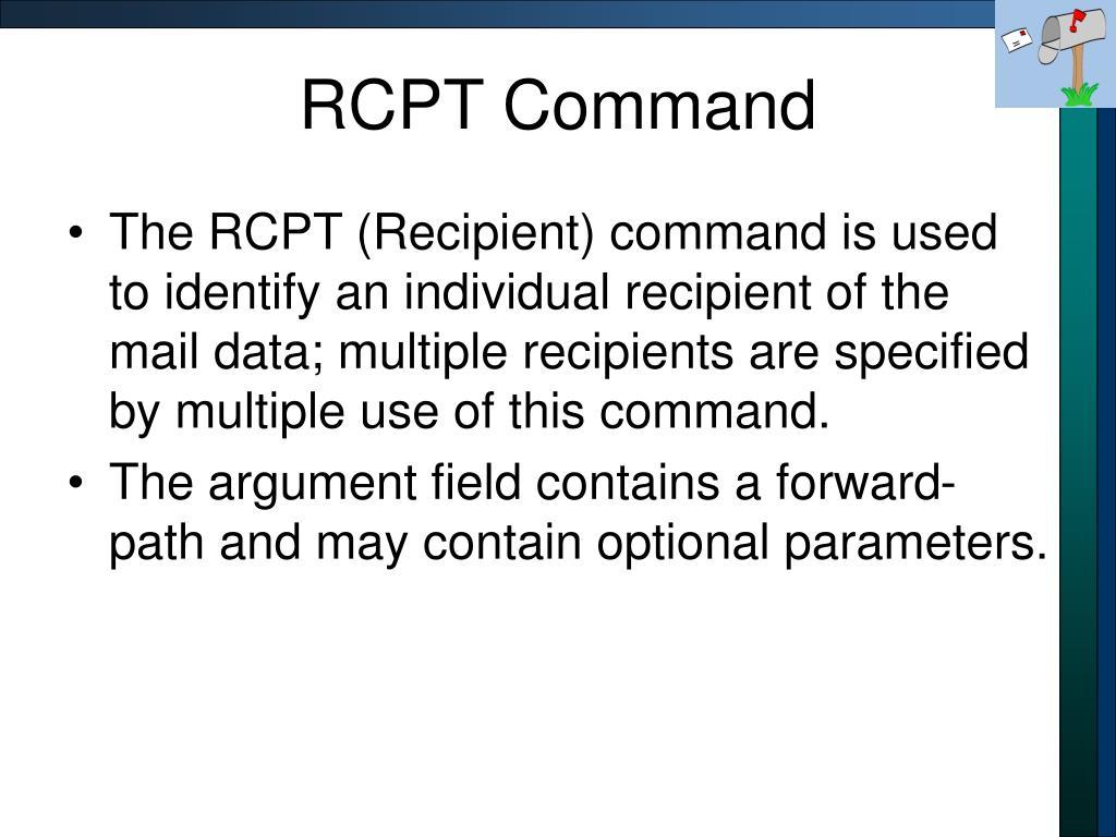 RCPT Command