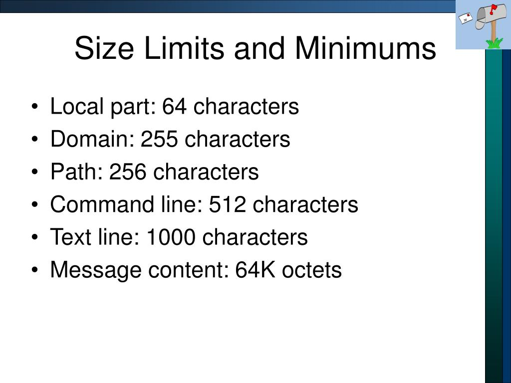 Size Limits and Minimums