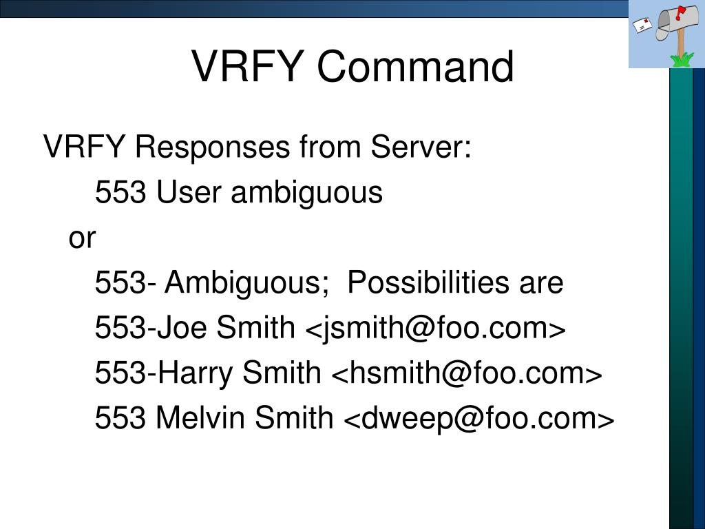 VRFY Command