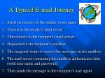 a typical e mail journey