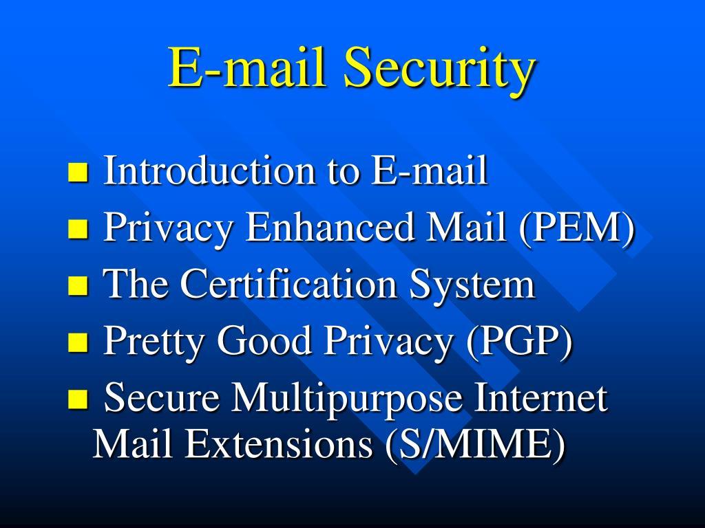 e mail security l.