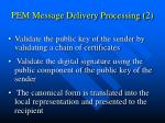 pem message delivery processing 2