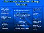 pem message submission message processing