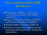 privacy enhanced mail pem introduction