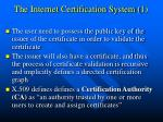 the internet certification system 1
