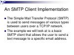 an smtp client implementation
