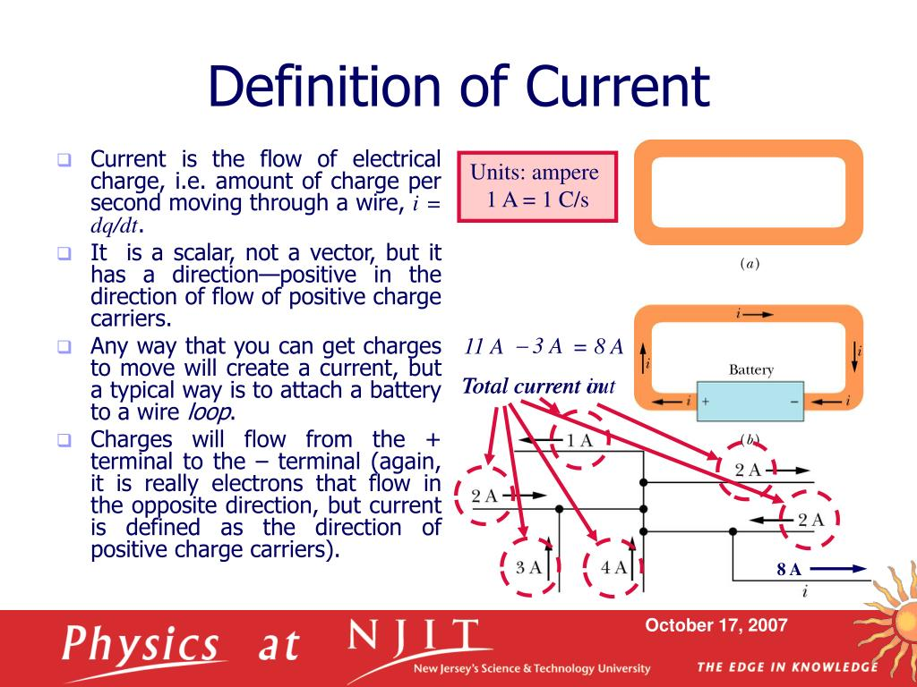 PPT - Physics 121: Electricity & Magnetism – Lecture 7 Current
