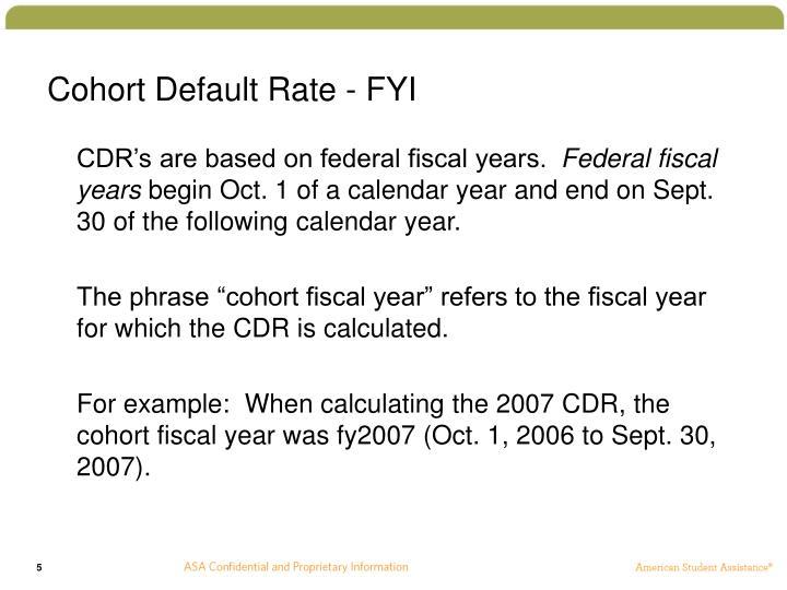 Cohort Default Rate - FYI
