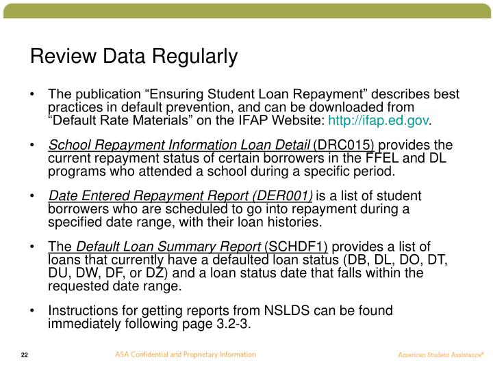 Review Data Regularly