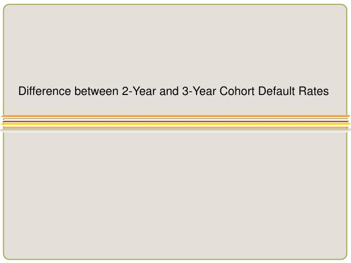 Difference between 2-Year and 3-Year Cohort Default Rates