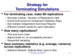 strategy for terminating simulations