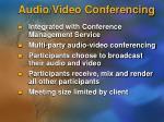 audio video conferencing