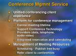 conference mgmnt service