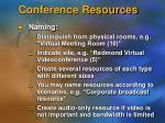 conference resources