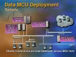 data mcu deployment sample