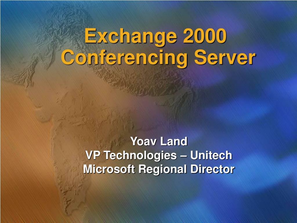 exchange 2000 conferencing server l.