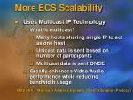 more ecs scalability