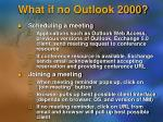 what if no outlook 2000
